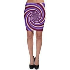 Woven Spiral Bodycon Skirt
