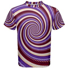 Woven Spiral Men s Cotton Tee