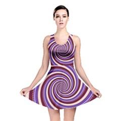 Woven Spiral Reversible Skater Dress