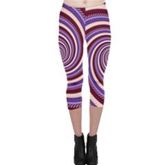 Woven Spiral Capri Leggings