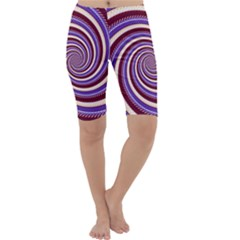 Woven Spiral Cropped Leggings