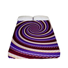 Woven Spiral Fitted Sheet (full/ Double Size)
