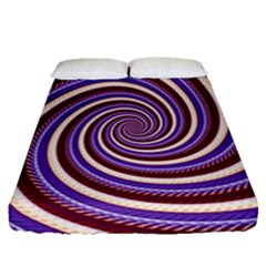 Woven Spiral Fitted Sheet (queen Size)