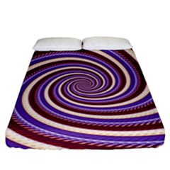 Woven Spiral Fitted Sheet (king Size)