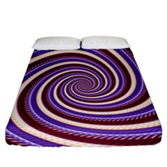 Woven Spiral Fitted Sheet (california King Size)