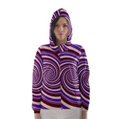 Woven Spiral Hooded Wind Breaker (women)