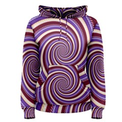 Woven Spiral Women s Pullover Hoodie