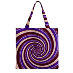 Woven Spiral Zipper Grocery Tote Bag