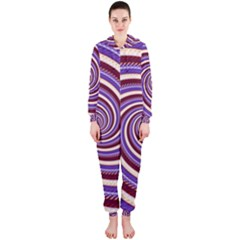 Woven Spiral Hooded Jumpsuit (ladies)