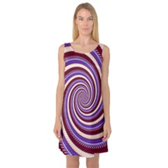 Woven Spiral Sleeveless Satin Nightdress