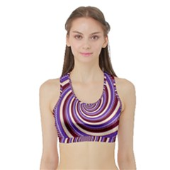 Woven Spiral Sports Bra With Border