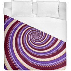 Woven Spiral Duvet Cover (king Size)