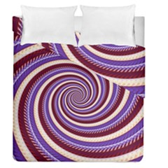 Woven Spiral Duvet Cover Double Side (queen Size)