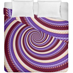 Woven Spiral Duvet Cover Double Side (king Size)
