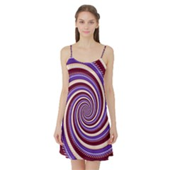 Woven Spiral Satin Night Slip