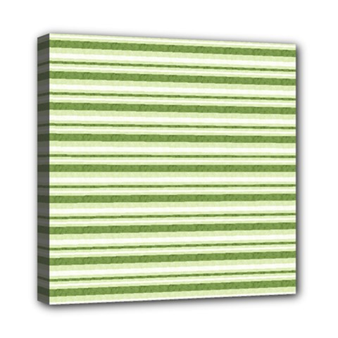 Spring Stripes Mini Canvas 8  X 8