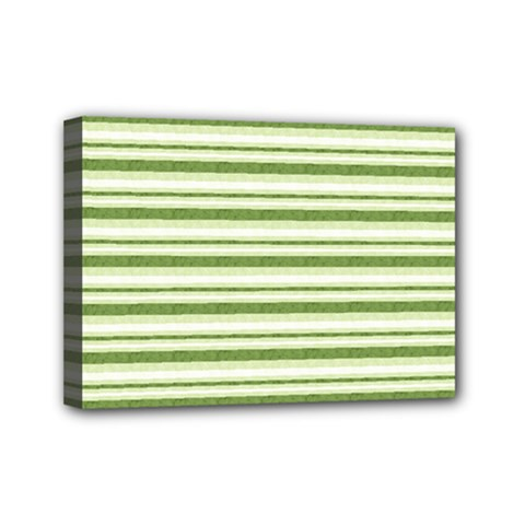 Spring Stripes Mini Canvas 7  X 5