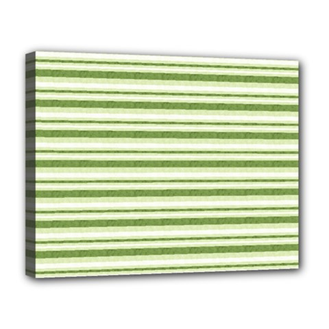 Spring Stripes Canvas 14  X 11