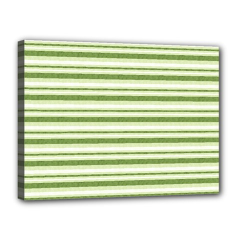 Spring Stripes Canvas 16  X 12