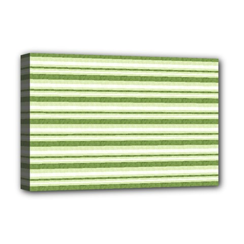 Spring Stripes Deluxe Canvas 18  X 12