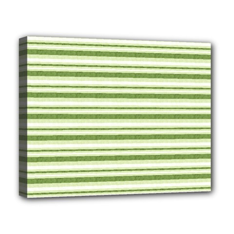Spring Stripes Deluxe Canvas 20  X 16
