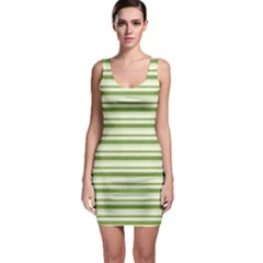 Spring Stripes Bodycon Dress