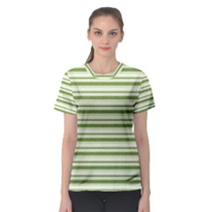 Spring Stripes Women s Sport Mesh Tee