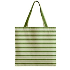Spring Stripes Grocery Tote Bag
