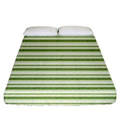 Spring Stripes Fitted Sheet (king Size)