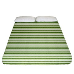 Spring Stripes Fitted Sheet (california King Size)