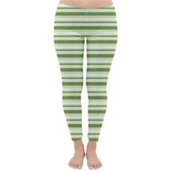 Spring Stripes Classic Winter Leggings
