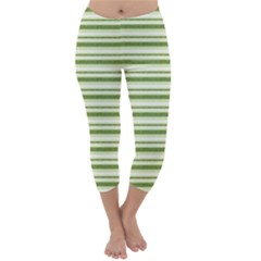 Spring Stripes Capri Winter Leggings