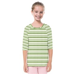 Spring Stripes Kids  Quarter Sleeve Raglan Tee