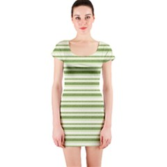 Spring Stripes Short Sleeve Bodycon Dress