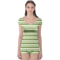 Spring Stripes Boyleg Leotard
