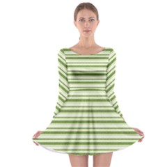 Spring Stripes Long Sleeve Skater Dress