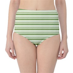 Spring Stripes High Waist Bikini Bottoms