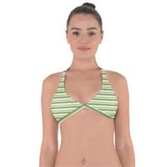 Spring Stripes Halter Neck Bikini Top