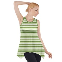 Spring Stripes Side Drop Tank Tunic