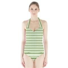 Spring Stripes Halter Swimsuit