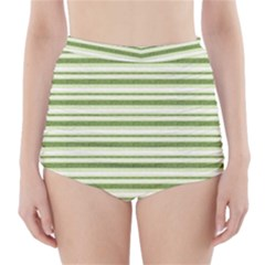 Spring Stripes High Waisted Bikini Bottoms