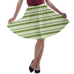 Spring Stripes A Line Skater Skirt