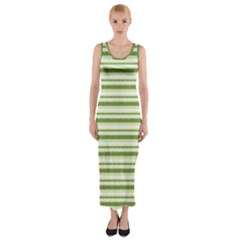 Spring Stripes Fitted Maxi Dress