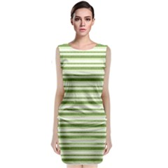 Spring Stripes Classic Sleeveless Midi Dress