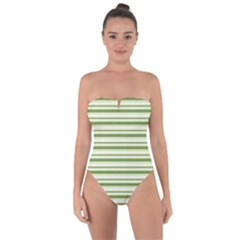 Spring Stripes Tie Back One Piece Swimsuit