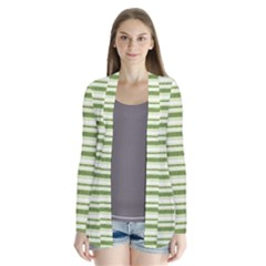 Spring Stripes Drape Collar Cardigan