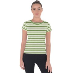Spring Stripes Short Sleeve Sports Top
