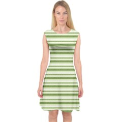 Spring Stripes Capsleeve Midi Dress