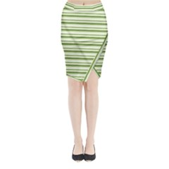 Spring Stripes Midi Wrap Pencil Skirt
