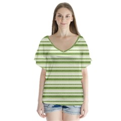 Spring Stripes Flutter Sleeve Top